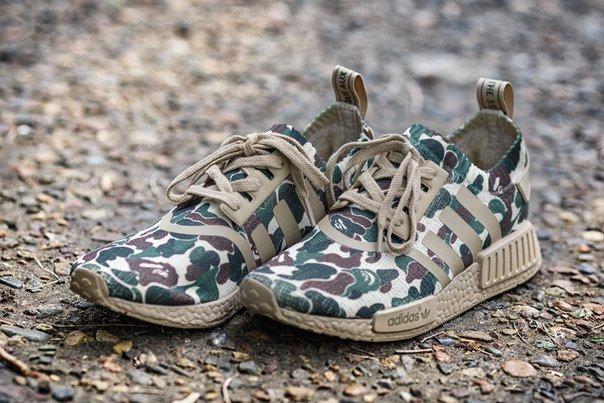 кроссовки Adidas Nmd Runner Pk R1 X Bape