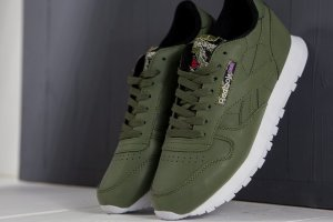 Кроссовки Reebok Cllthr Wrap Ridged Army Green
