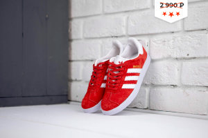 Кеды Adidas Gazelle wmns red white