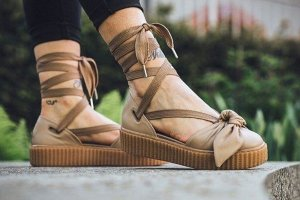 Сандалии Puma Fenty x Rihanna Bow Creeper Sandals 'Natural/Oatmeal'