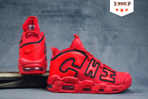 Кроссовки Nike AIR MORE UPTEMPO Chicago University red-black