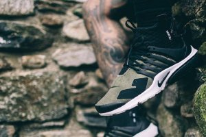 Кроссовки ACRONYM x Nike Air Presto Mid Medium Olive/Dust-Black