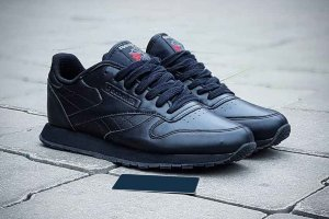 Кроссовки Reebok CL Leather black