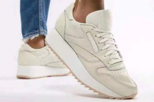 Кроссовки Reebok cl leather utility  beige