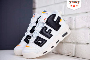 Кроссовки Nike Air More Uptempo white/black/orange