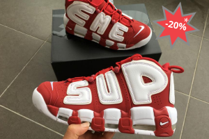 Кроссовки Nike Air More Uptempo supreme red/white