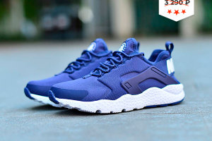 Кроссовки Nike Huarache run ultra blue white