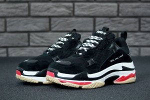 Кроссовки Balenciaga Triple S black/red/white