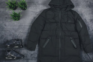 Пуховик Nike army run black